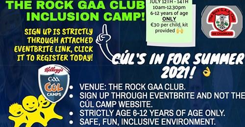 The Rock GAA Inclusion Camp!!